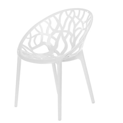 Krzesło Coral White Glossy