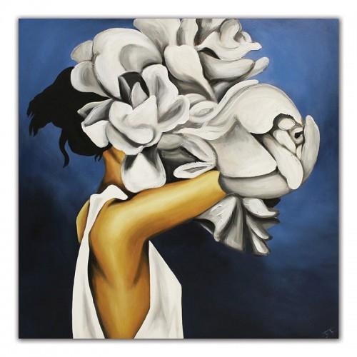 Obraz Abstrakcja Twarz Kwiat 3