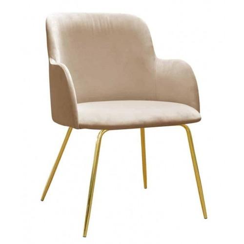 Krzesło Arkas na złotych nogach