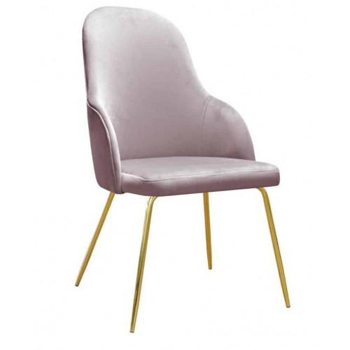 Krzesło Bogota na złotych nogach