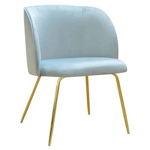 Krzesło Elif na złotych nogach