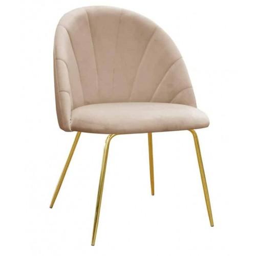 Krzesło Haga na złotych nogach
