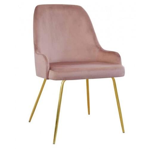 Krzesło Izmir na złotych nogach