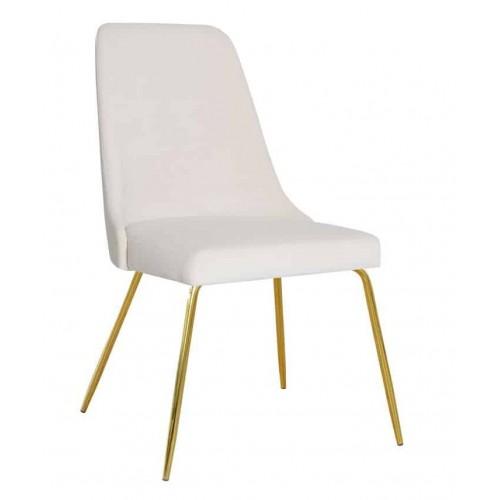 Krzesło Lagos na złotych nogach