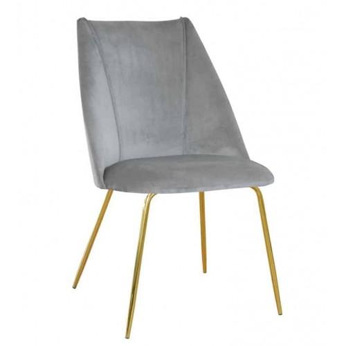 Krzesło Manila na złotych nogach