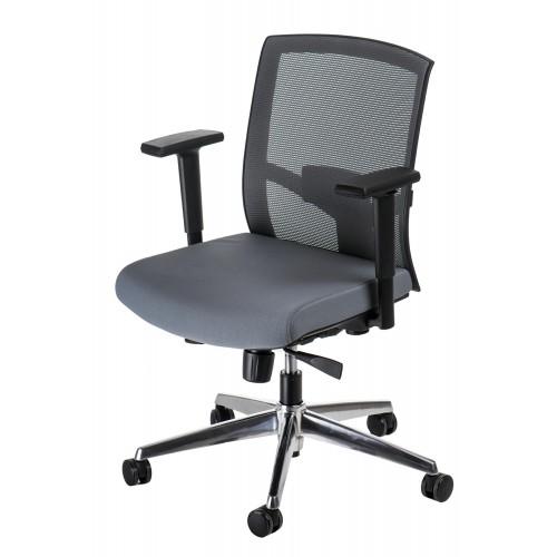 Fotel biurowy Ergo szary/szary