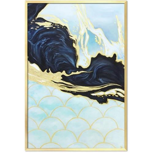 Obraz Abstrakcja Art Blue Gold 1