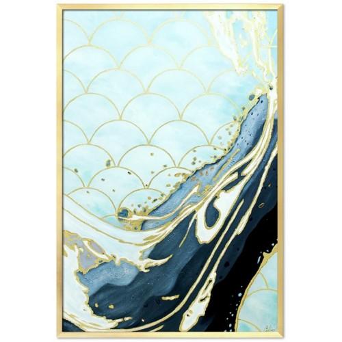 Obraz Abstrakcja Art Blue Gold 2