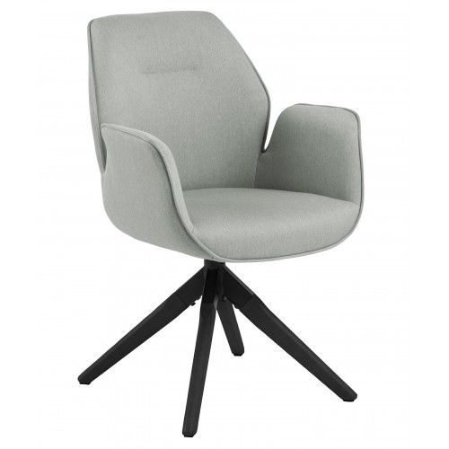 Krzesło obrotowe Aura light grey /black auto return