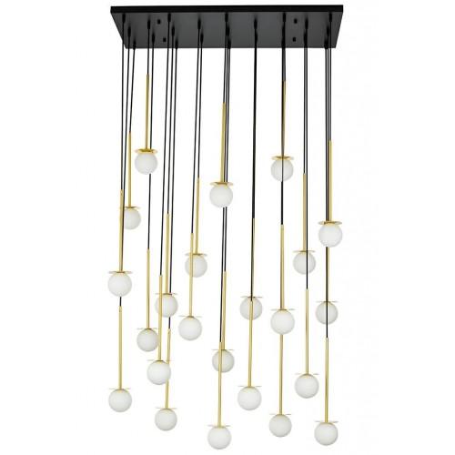 Lampa wisząca CANNON LINE 23 - mosiądz, szkło