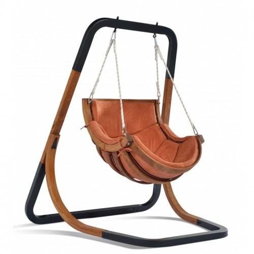 Fotel wiszący-bujany terracotta