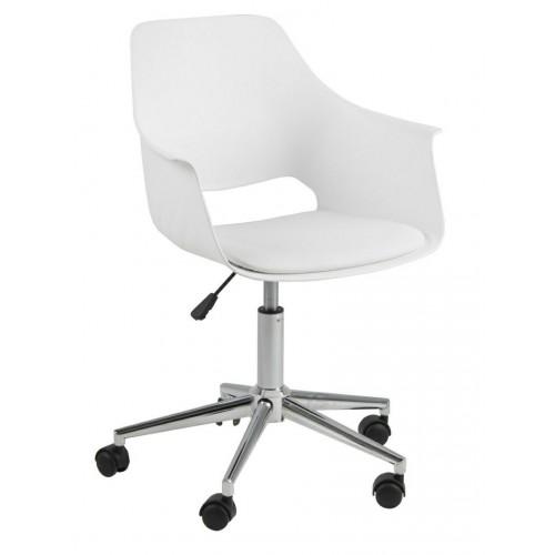 Fotel biurowy na kółkach Ramona biały
