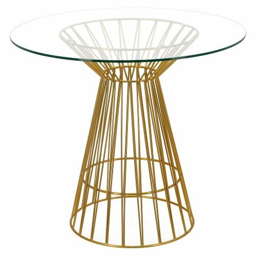 Stół Cage złoty
