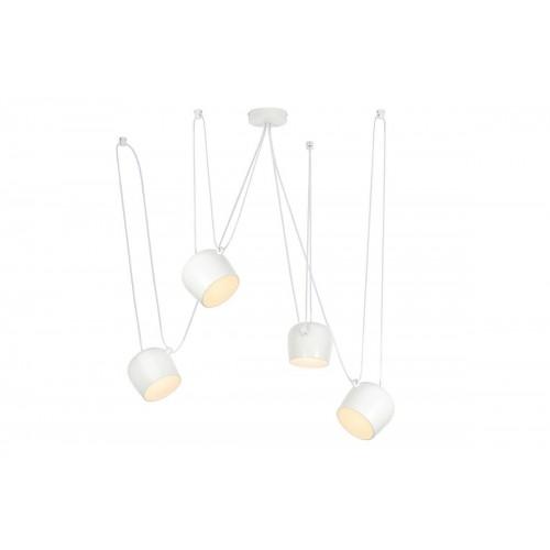 Lampa wisząca EYE 4 biała - LED, aluminium