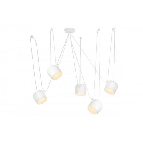 Lampa wisząca EYE 5 biała - LED, aluminium
