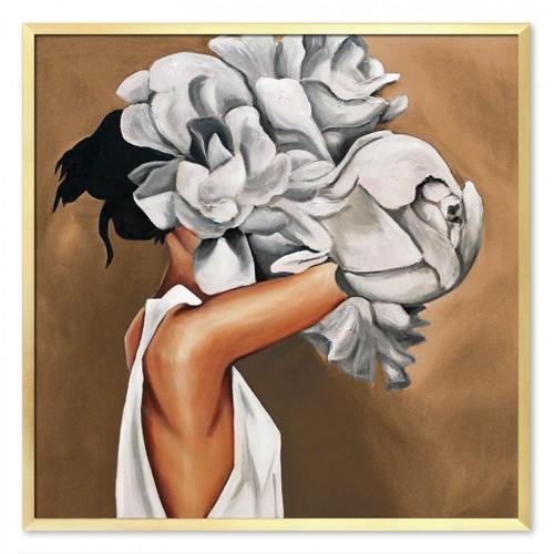 Obraz Abstrakcja Twarz Kwiat 8