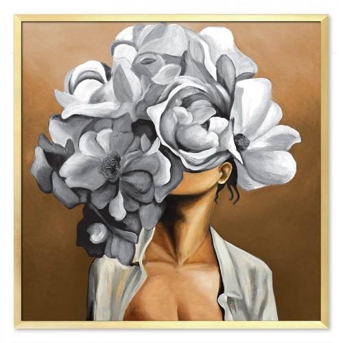 Obraz Abstrakcja Twarz Kwiat 9