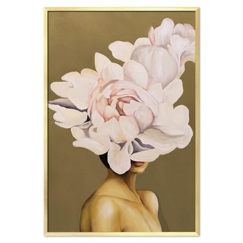 Obraz Abstrakcja Twarz Kwiat 11