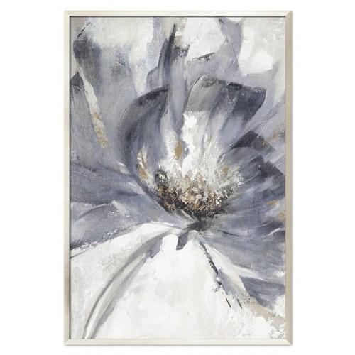 Obraz Abstrakcja Szary Kwiat 1