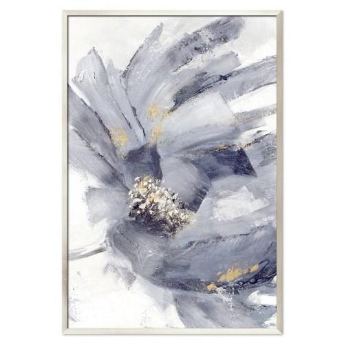 Obraz Abstrakcja Szary Kwiat 2