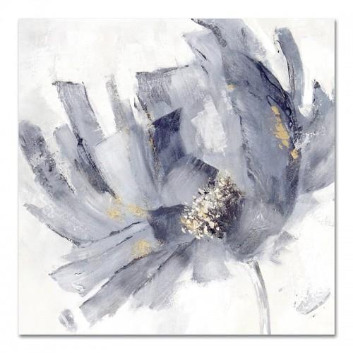 Obraz Abstrakcja Szary Kwiat 3