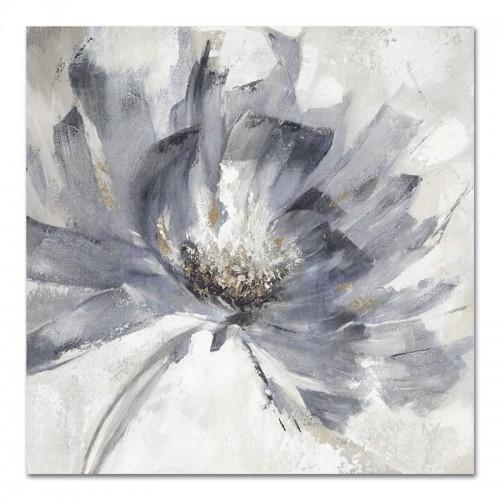Obraz Abstrakcja Szary Kwiat 4