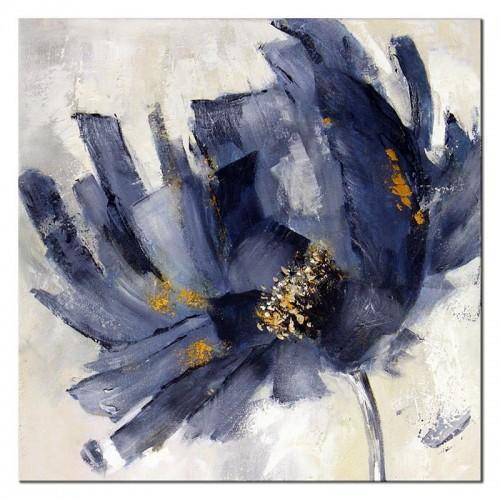 Obraz Abstrakcja Niebieski Kwiat