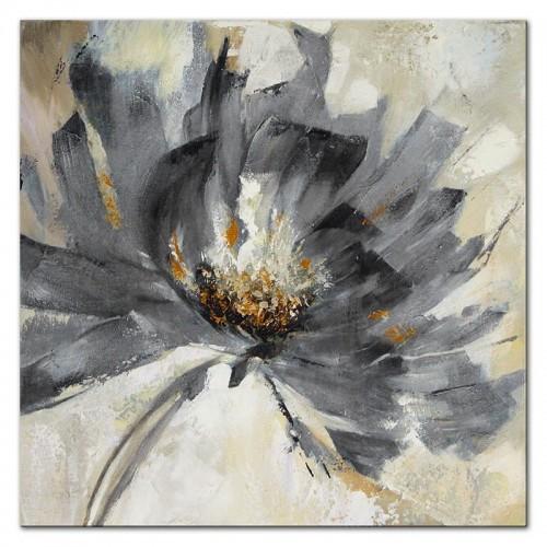 Obraz Abstrakcja Beżowo Szary Kwiat