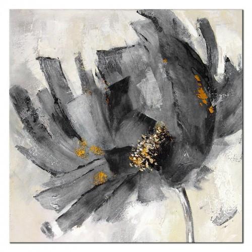 Obraz Abstrakcja Ciemno Szary Kwiat