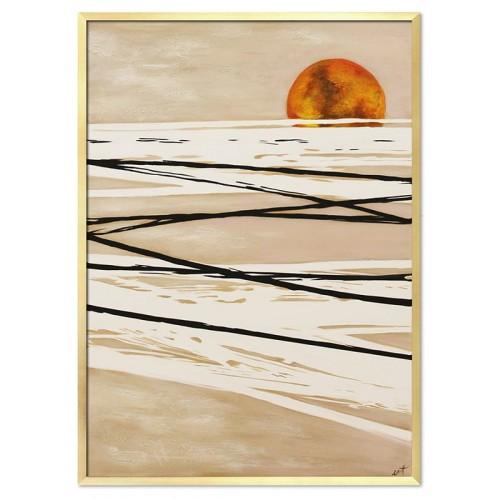 Obraz Abstrakcja Gold Sun