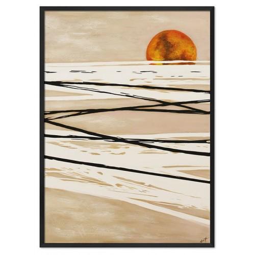 Obraz Abstrakcja Gold Sun 2