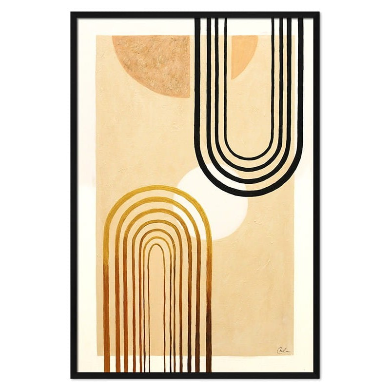Obraz Abstrakcja Gold Sun 3