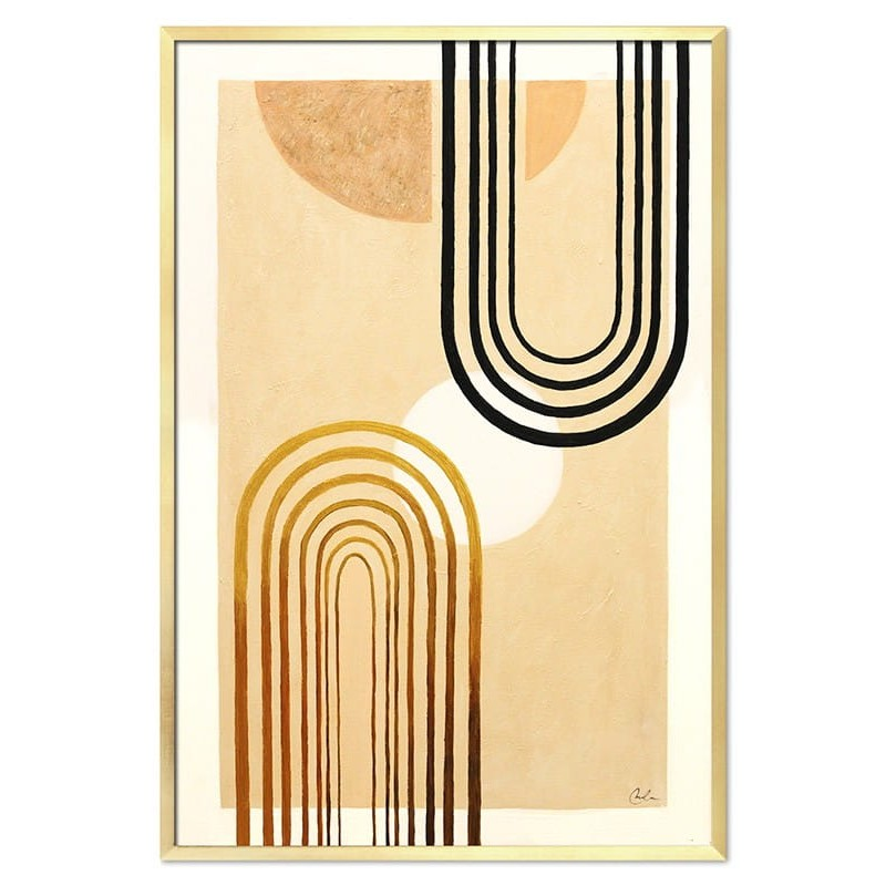 Obraz Abstrakcja Gold Sun 4