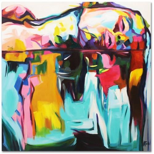 Obraz Abstrakcja Twarz FN02