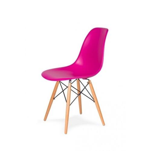 Krzesło DSW WOOD wściekły róż.22 - podstawa drewniana bukowa