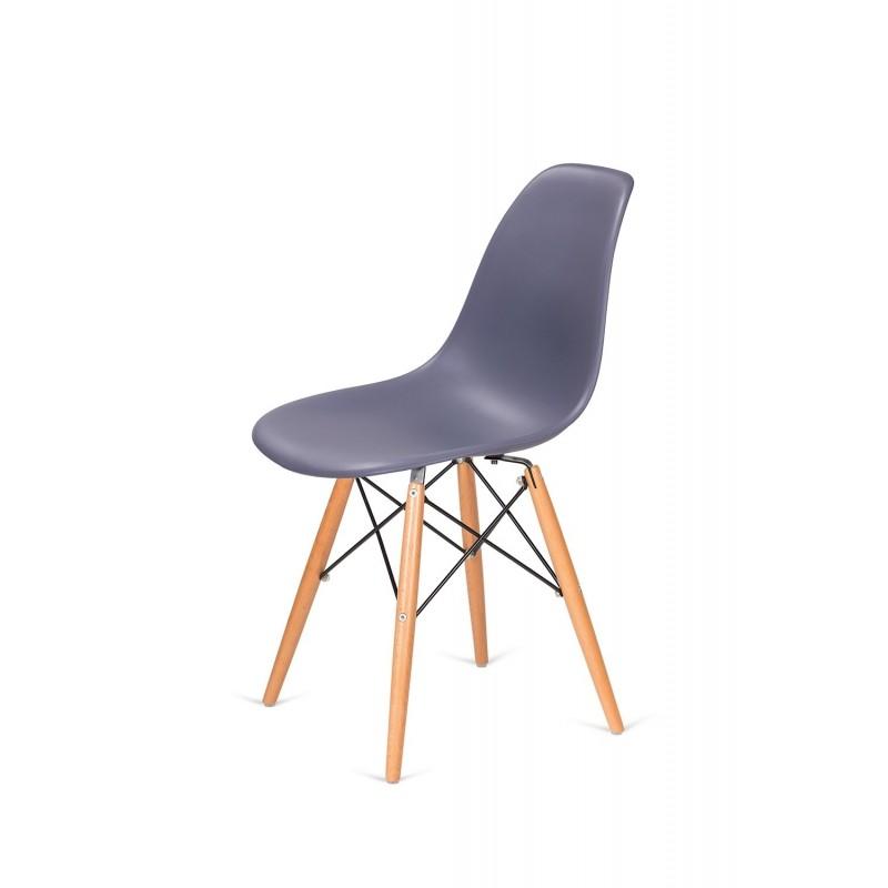 Krzesło DSW WOOD ciemny szary.04 - podstawa drewniana bukowa