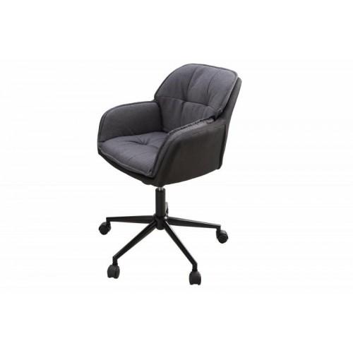 INVICTA krzesło biurowe LOUNGER szary - antracyt, mikrofibra, metal