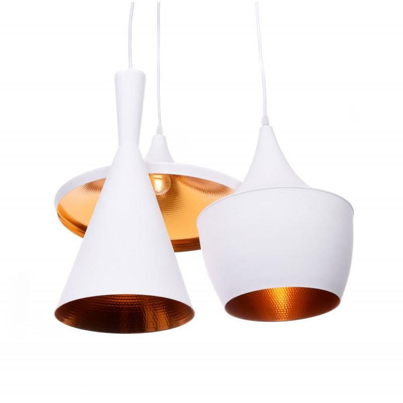 POTRÓJNA LAMPA WISZĄCA LOFT BIAŁA FOGGI W3