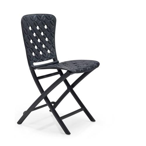 Krzesło składane Zac Spring grafitowe