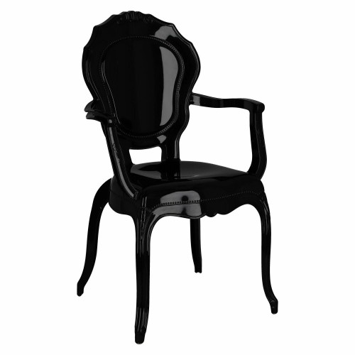 Krzesło Queen Arm czarne