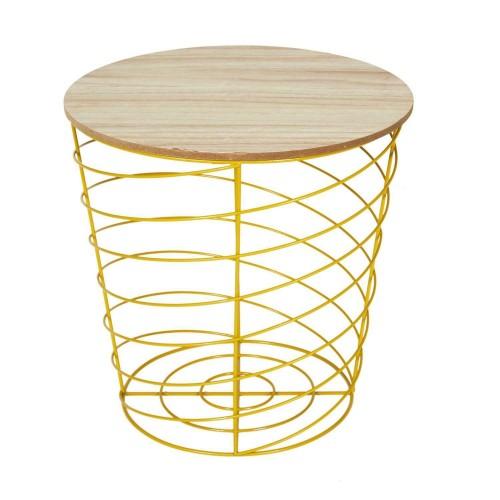 Stolik /Kosz Vortex żółty