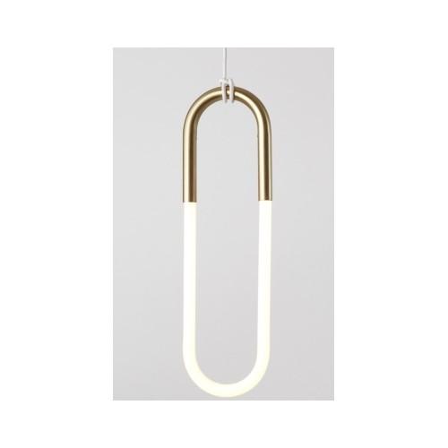 Lampa wisząca PUZO LED L antyczny mosiądz