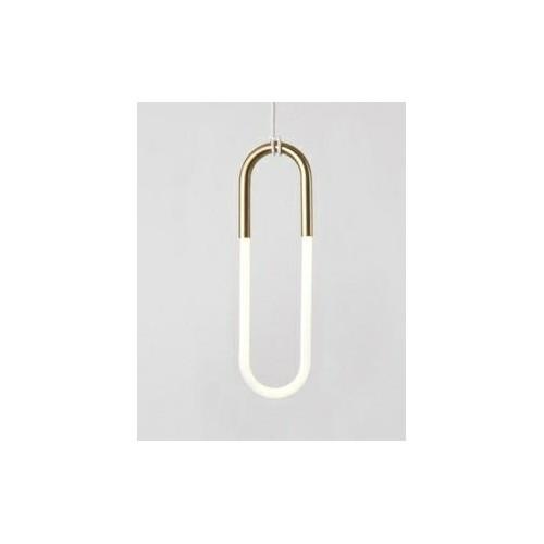 Lampa wisząca PUZO LED S antyczny mosiądz