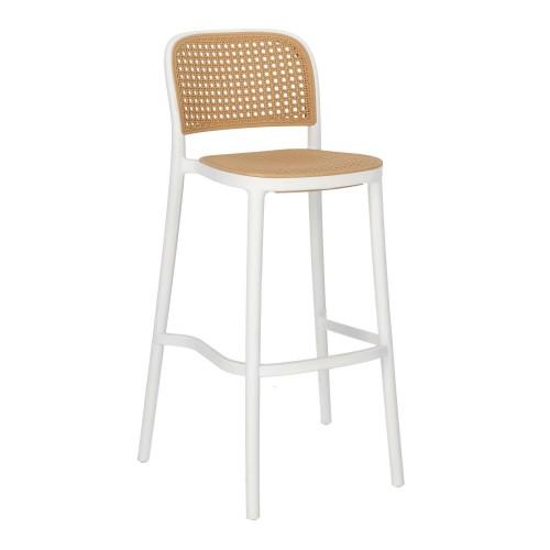 Krzesło barowe Antonio białe