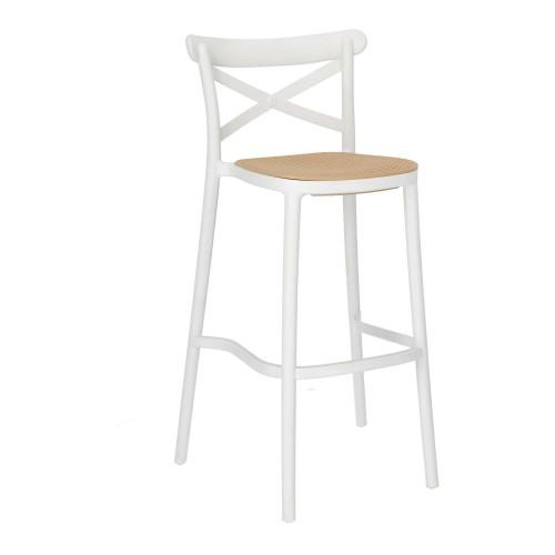 Krzesło barowe Moreno białe