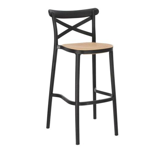 Krzesło barowe Moreno czarne