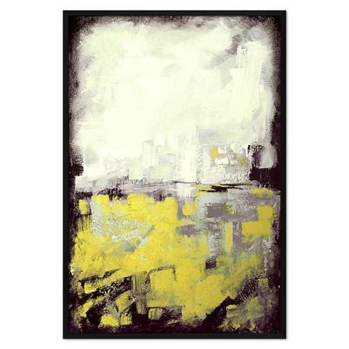 Obraz Abstrakcja Czarna Limonka