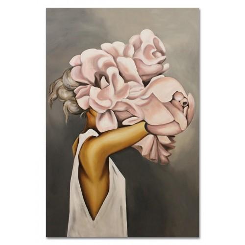 Obraz Abstrakcja Twarz Kwiat 14