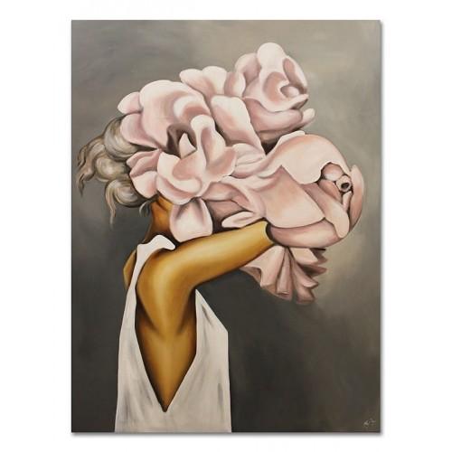 Obraz Abstrakcja Twarz Kwiat 15