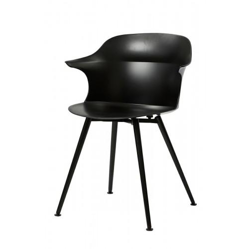 Krzesło BRAZO czarne - polipropylen, metal